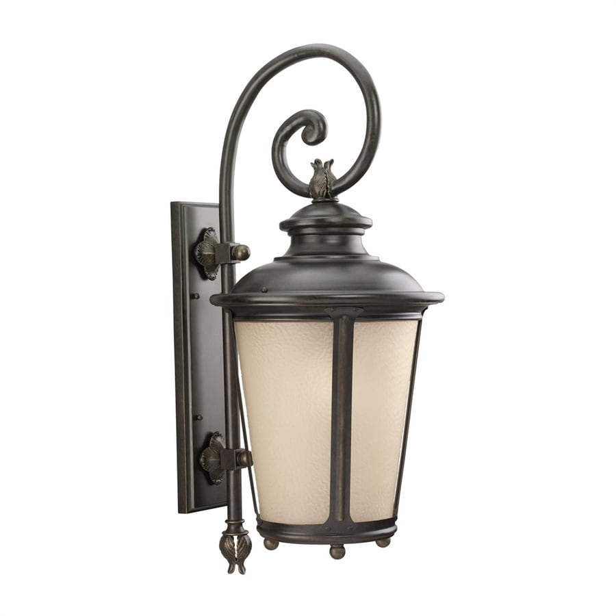 Sea Gull Lighting Cape May 29.75-in H Burled Iron Outdoor Wall Light