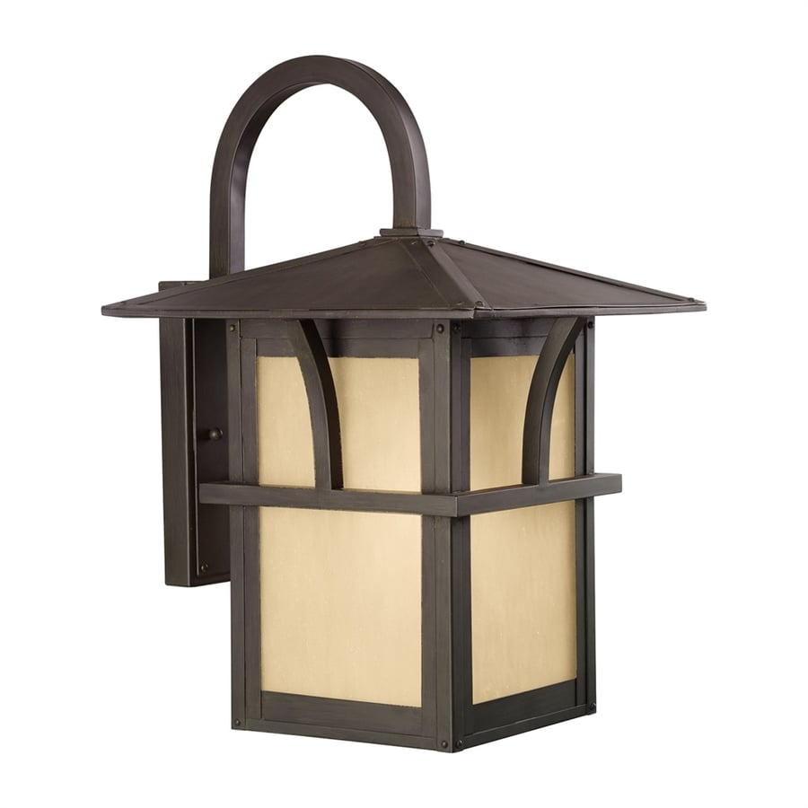 Sea Gull Lighting Medford Lakes 17-in H Statuary Bronze Outdoor Wall Light