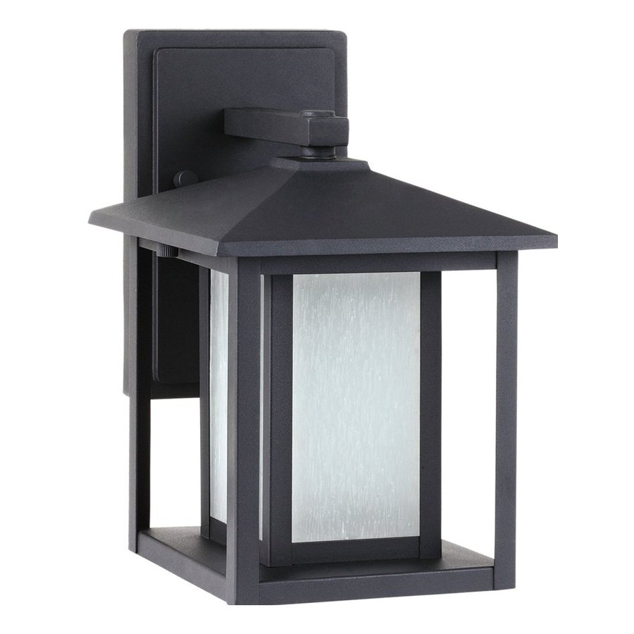 Sea Gull Lighting Hunnington 11-in H Black Outdoor Wall Light ENERGY STAR