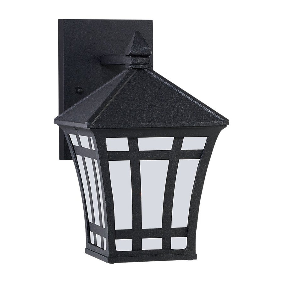 Sea Gull Lighting Herrington 10-in H Black Outdoor Wall Light ENERGY STAR