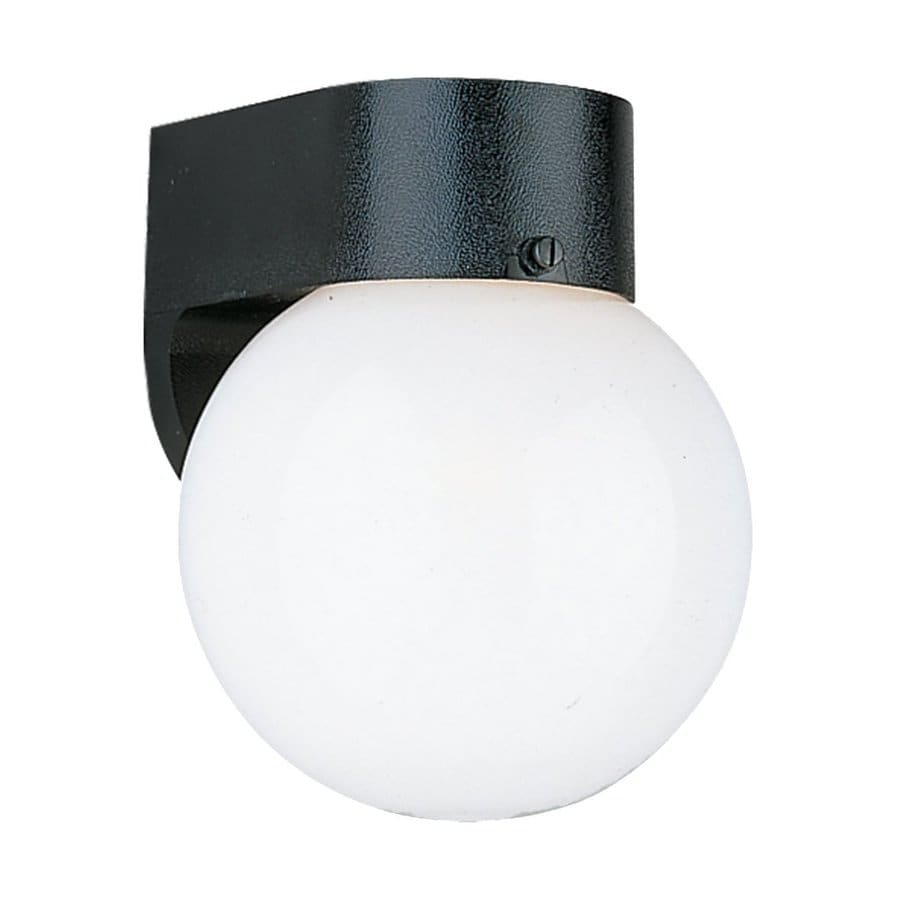 Sea Gull Lighting 8-in H Black Outdoor Wall Light ENERGY STAR