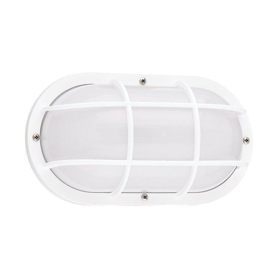 Sea Gull Lighting Bayside 5-in H White Outdoor Wall Light ENERGY STAR