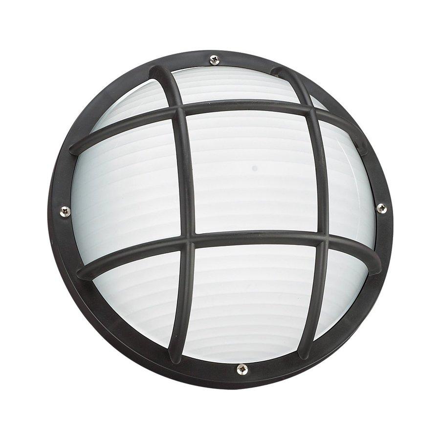 Sea Gull Lighting Bayside 10-in H Black Outdoor Wall Light ENERGY STAR