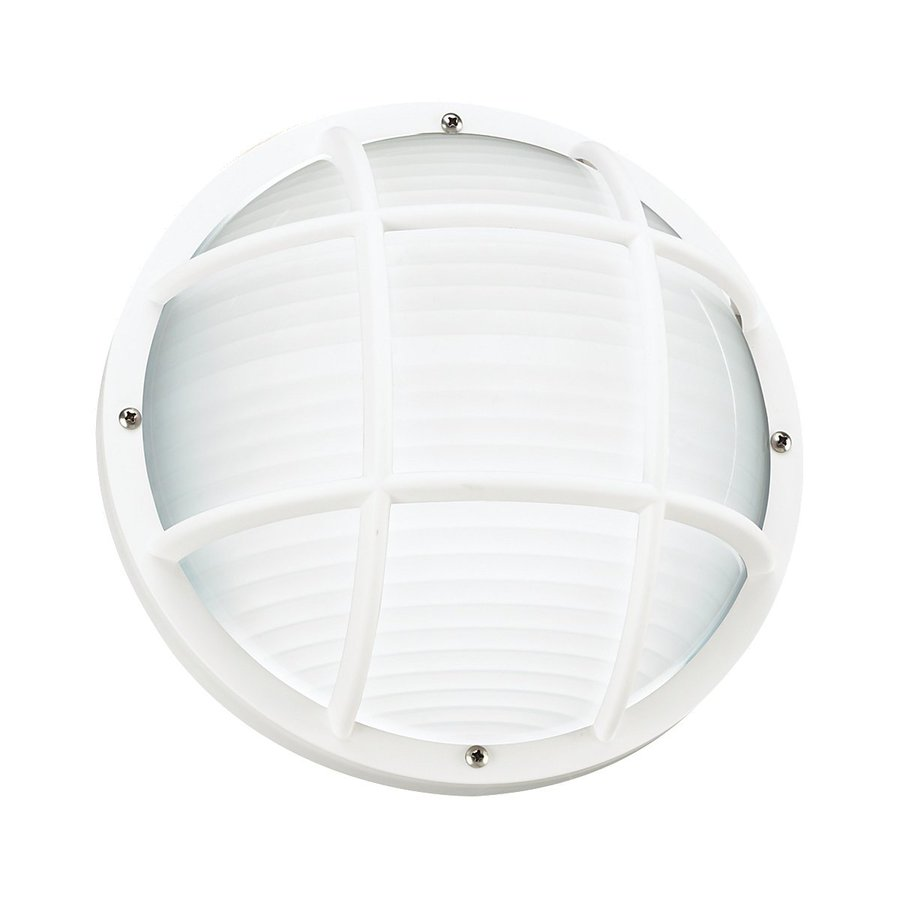 Sea Gull Lighting Bayside 10-in H White Outdoor Wall Light ENERGY STAR