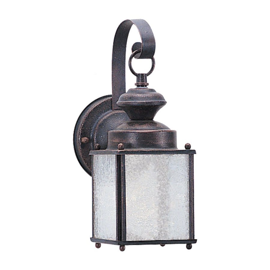 Sea Gull Lighting Jamestowne 11.25-in H Textured Rust Patina Outdoor Wall Light ENERGY STAR