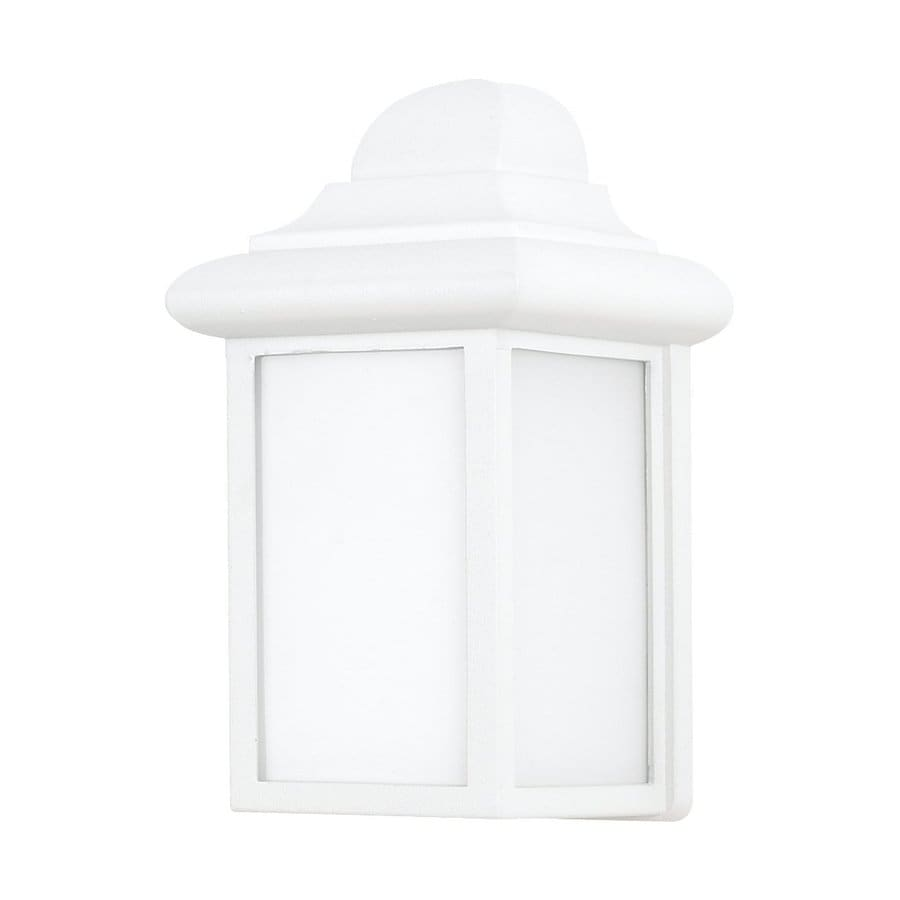 Sea Gull Lighting Mullberry Hill 8.75-in H White Outdoor Wall Light ENERGY STAR