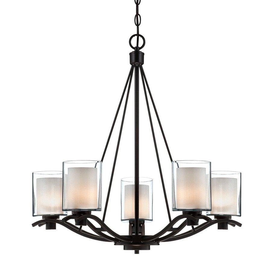 Artcraft Lighting Andover 26.5-in 5-Light Oil Rubbed Bronze Shaded Chandelier