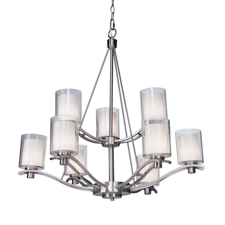 Artcraft Lighting Andover 30-in 9-Light Polished Nickel Tiered Chandelier