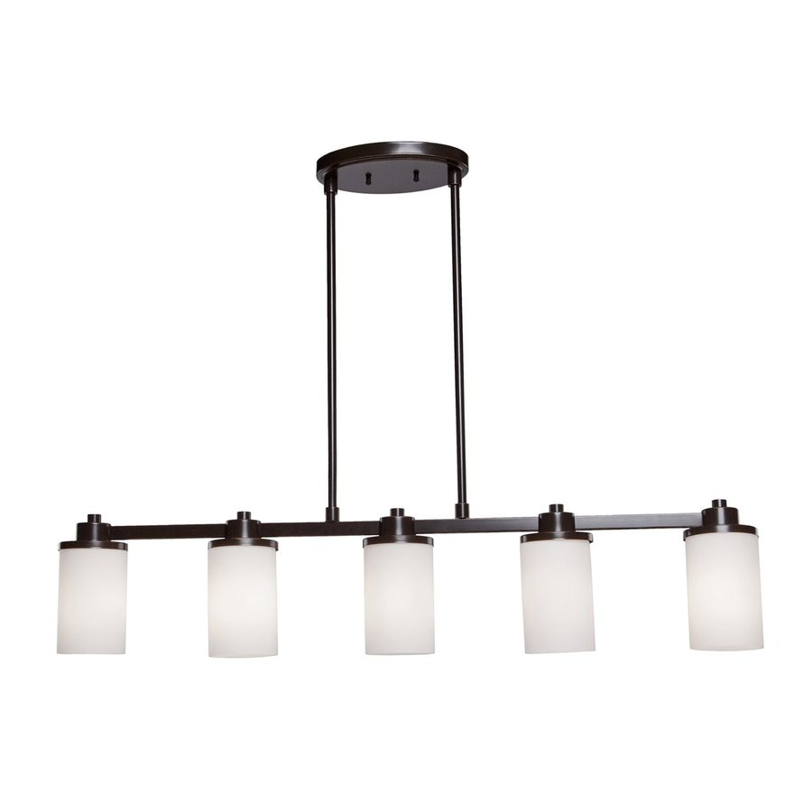Artcraft Lighting Parkdale 5-Light Oil Rubbed Bronze Kitchen Island Light with White Shade