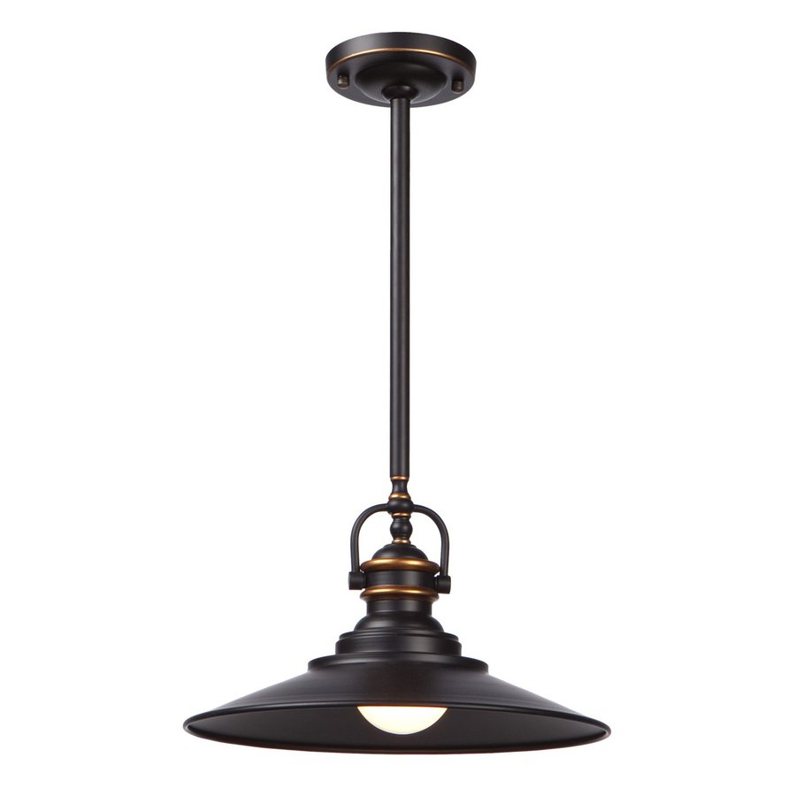 Artcraft Lighting Heath 12-in Bronze Industrial Mini Cone Pendant