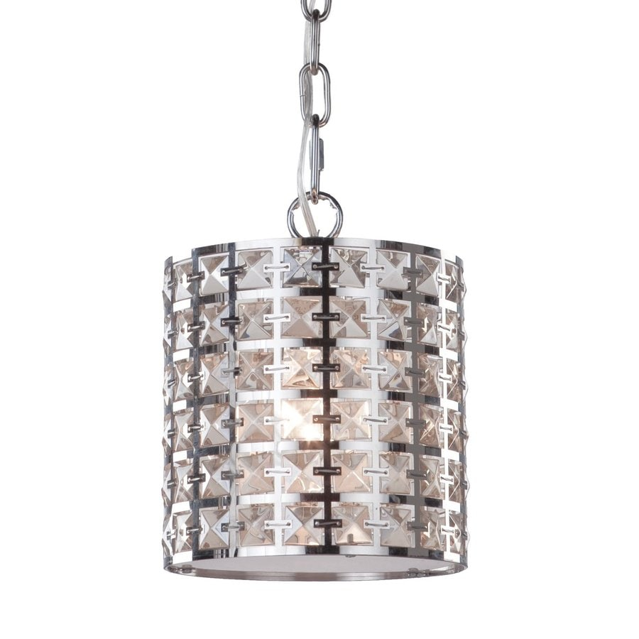 Artcraft Lighting Coventry 7-in Chrome Mini Cylinder Pendant