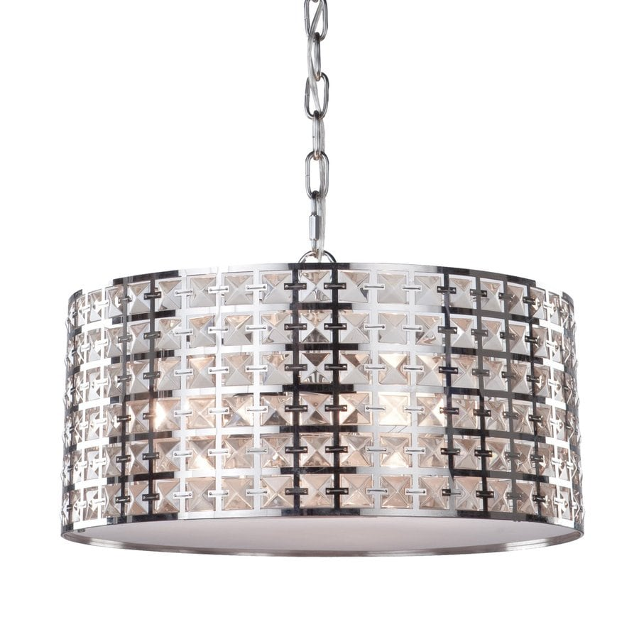 Artcraft Lighting Coventry 14.75-in Chrome Single Drum Pendant