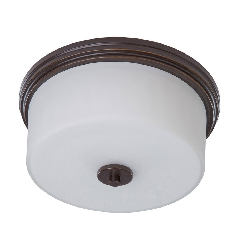 Artcraft Lighting Russell Hill 15-in W Oil Rubbed Bronze Flush Mount Light
