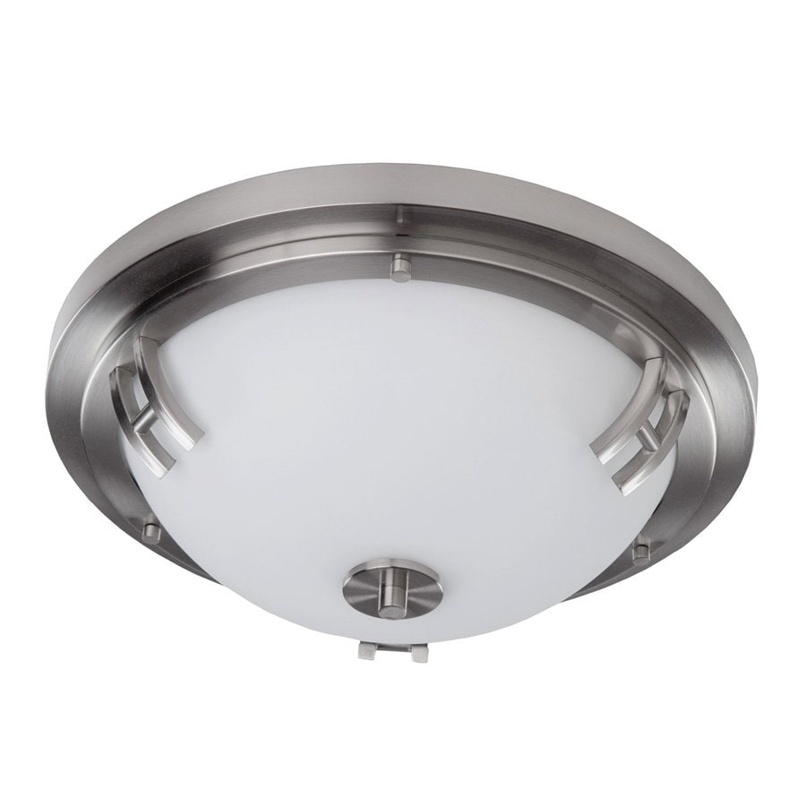 Artcraft Lighting Andover 14-in W Polished Nickel Ceiling Flush Mount Light