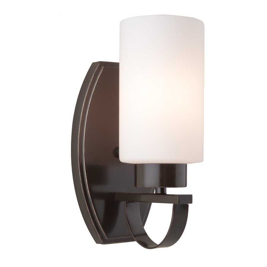 Artcraft Lighting Russell Hill 4.5-in W 1-Light Oil Rubbed Bronze Arm Wall Sconce