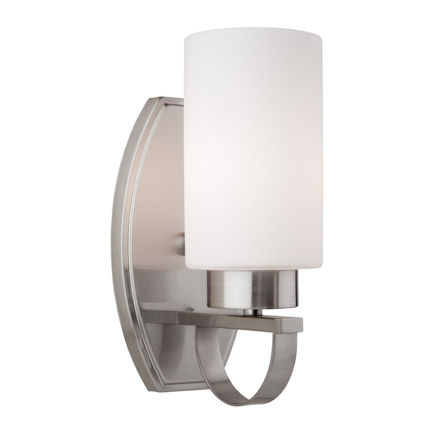 Russell Lowe Wall Lights : Shop Artcraft Lighting Russell Hill 4.5-in W 1-Light Polished Nickel Arm Wall Sconce at Lowes.com