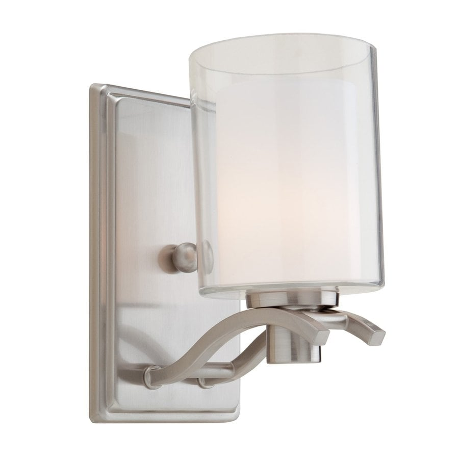 Artcraft Lighting Andover 4.25-in W 1-Light Polished Nickel Arm Wall Sconce