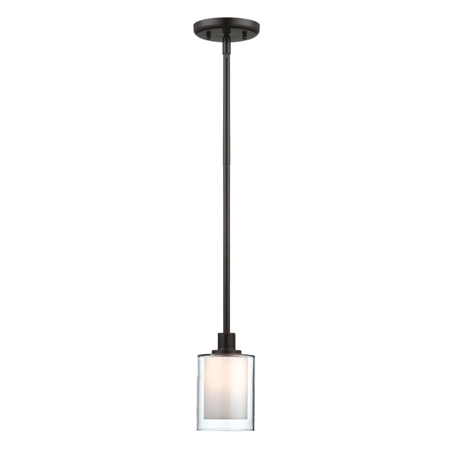 Artcraft Lighting Andover 4-in Oil Rubbed Bronze Mini Cylinder Pendant