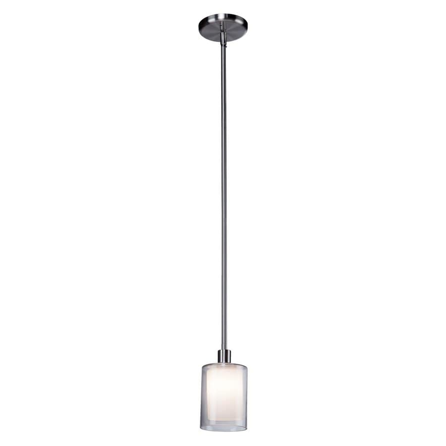 Artcraft Lighting Andover 4-in Polished Nickel Mini Cylinder Pendant