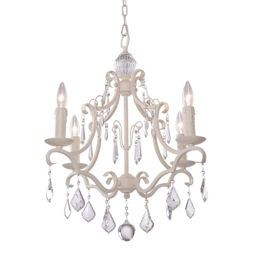 Artcraft Lighting Vintage 17.25-in 4-Light Antique White Vintage Candle Chandelier