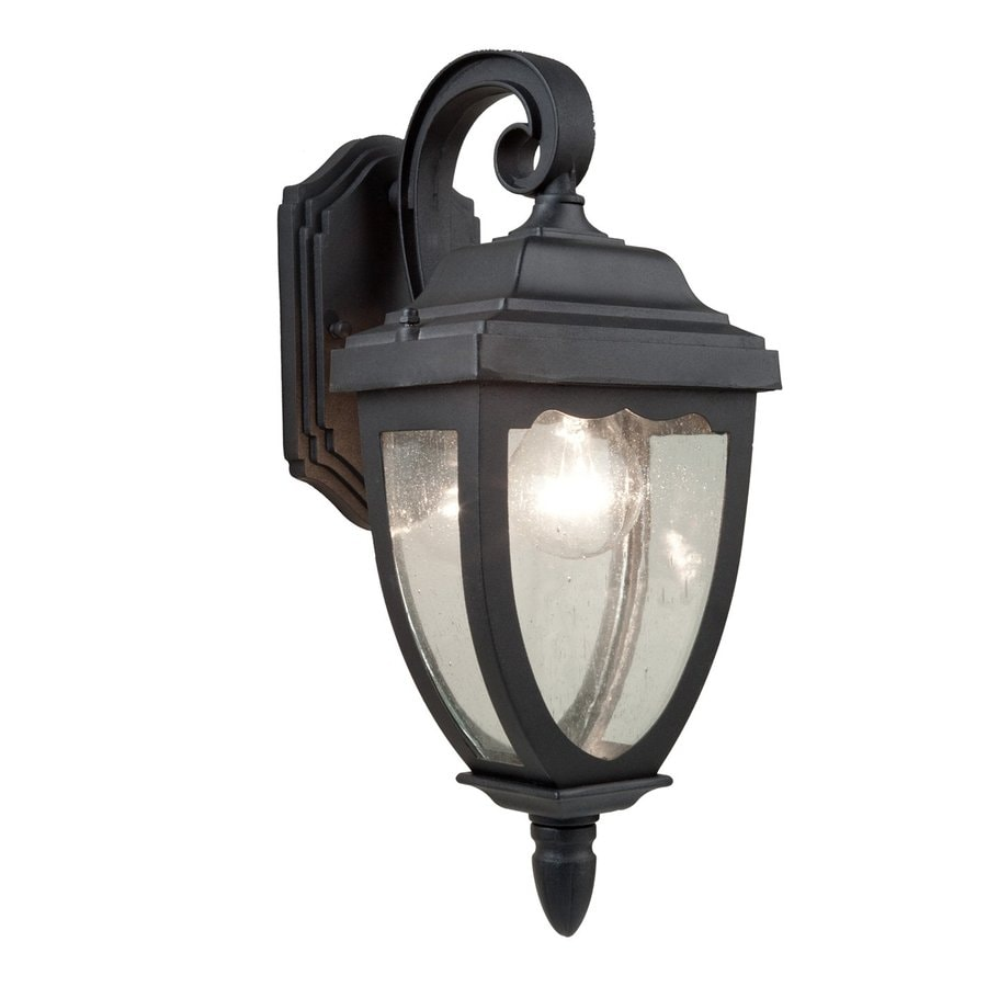 Artcraft Lighting Oakridge 15-in H Black Medium Base (E-26) Outdoor Wall Light