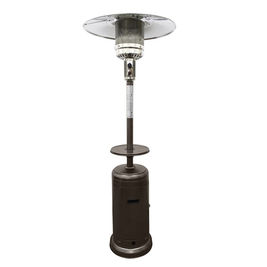 Bon AZ Patio 41000 BTU Hammered Bronze Steel Floorstanding Liquid Propane Patio  Heater