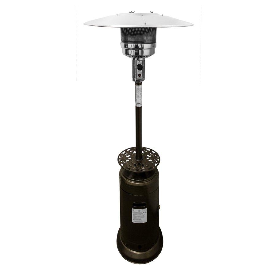 AZ  Patio 41000-BTU Hammered Bronze Steel Floorstanding Liquid Propane Patio Heater