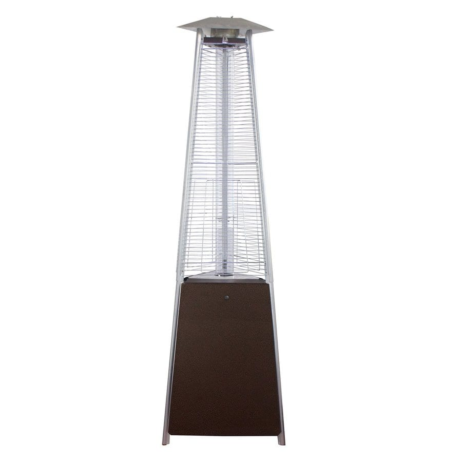 AZ  Patio 38000-BTU Hammered Bronze Stainless Steel Floorstanding Liquid Propane Patio Heater