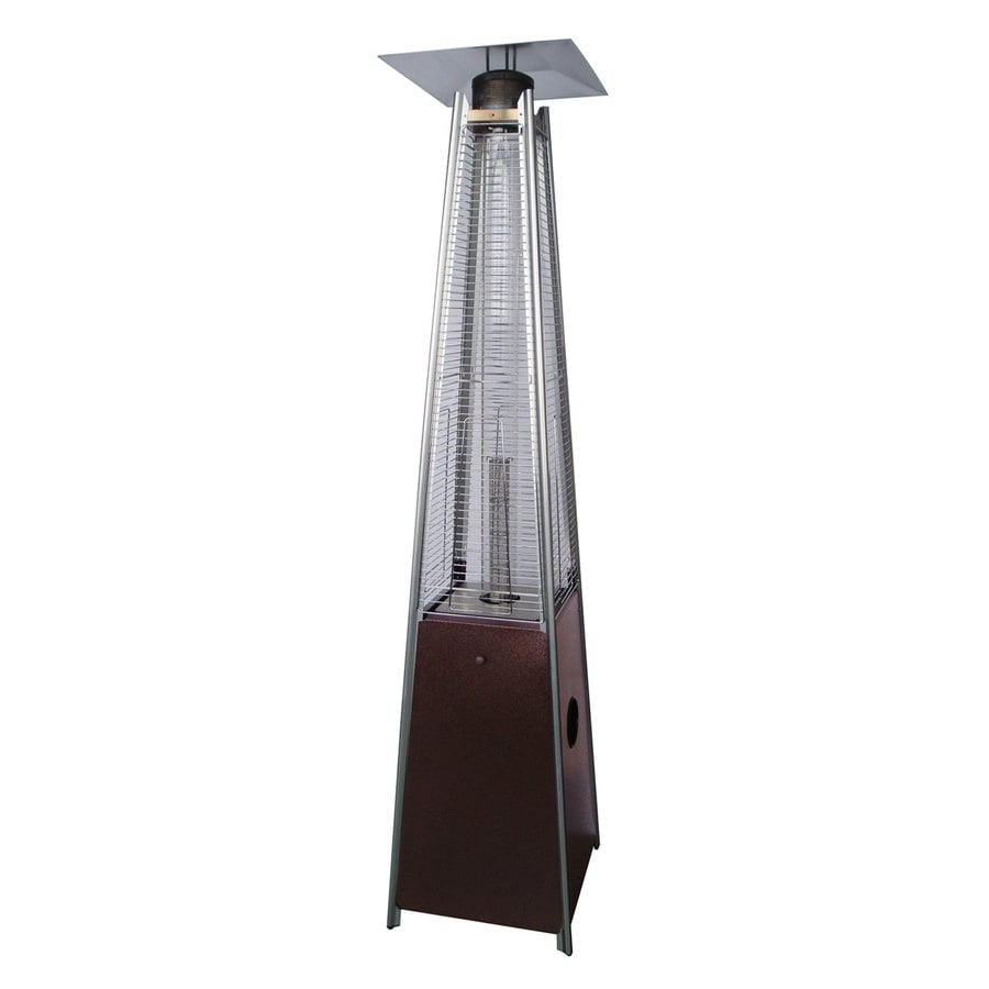 az patio 40000 btu hammered bronze steel floorstanding liquid propane patio heater - Patio Heater Lowes