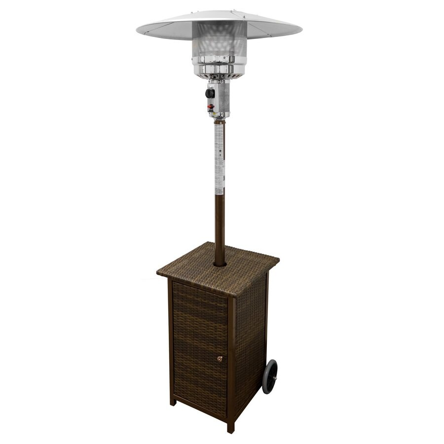 AZ  Patio 41000-BTU Mocha Steel Floorstanding Liquid Propane Patio Heater