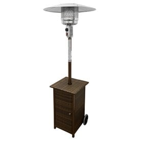 Superbe AZ Patio 41000 BTU Mocha Steel Floorstanding Liquid Propane Patio Heater