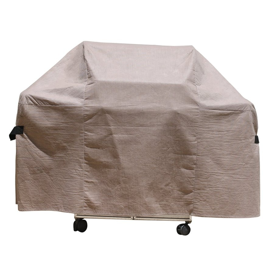 Duck Covers 67-in x 48-in Cappuccino Polypropylene Grill Cover Fits Most Universal