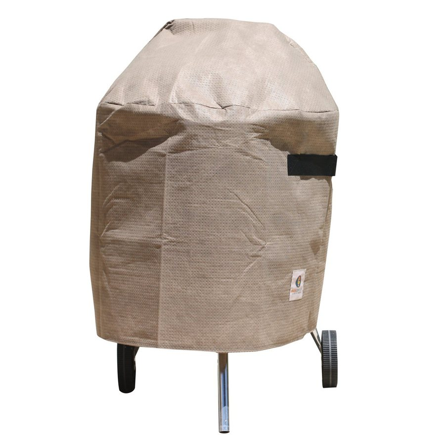 Duck Covers 29-in x 22-in Cappuccino Polypropylene Charcoal Kettle Grill Cover