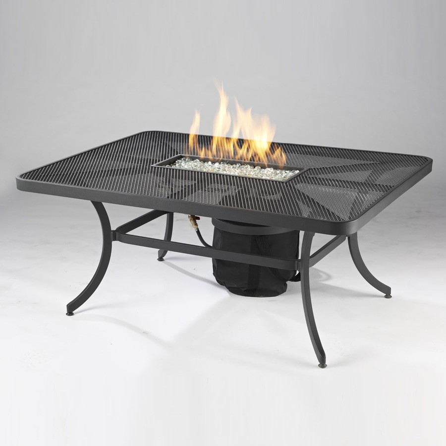 Outdoor Greatroom Company 48-in W 65,000-BTU Black Aluminum Propane Gas Fire Table