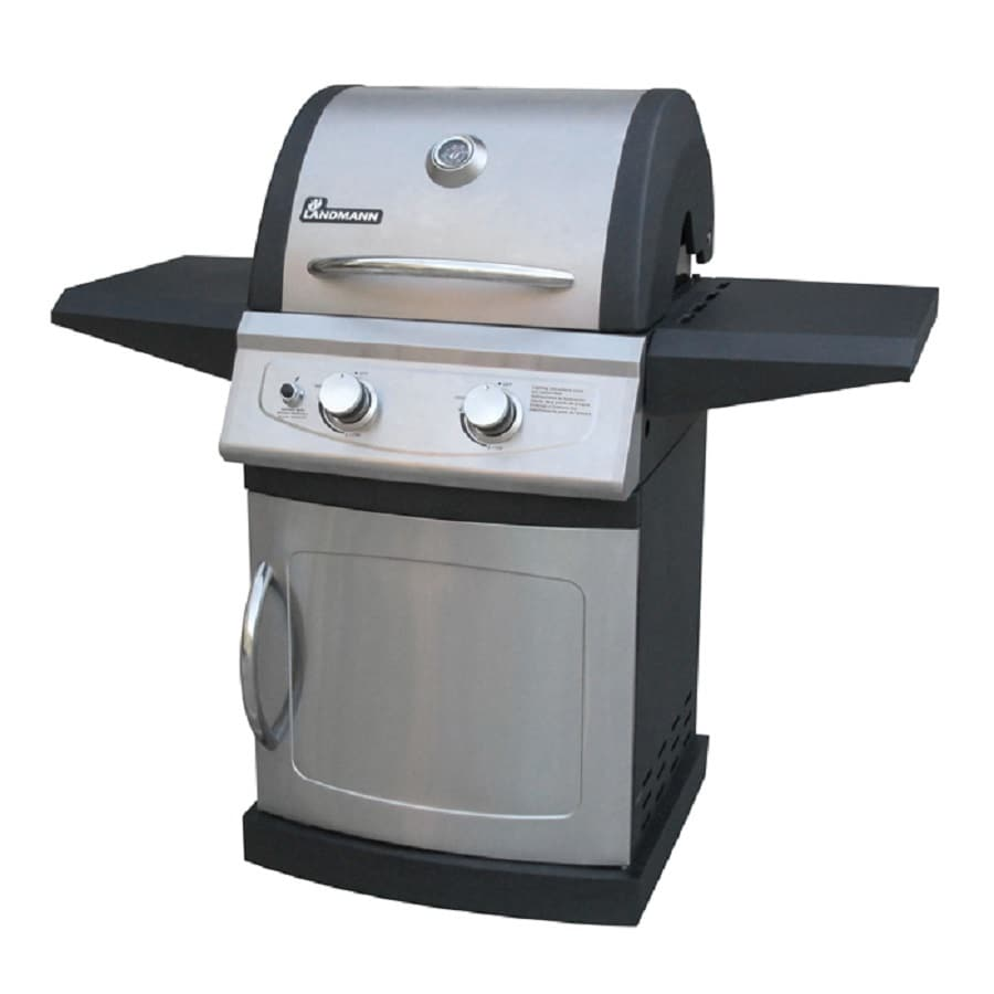 Landmann USA USA 42202 Falcon Stainless Steel/Black 2-Burner Liquid Propane Gas Grill
