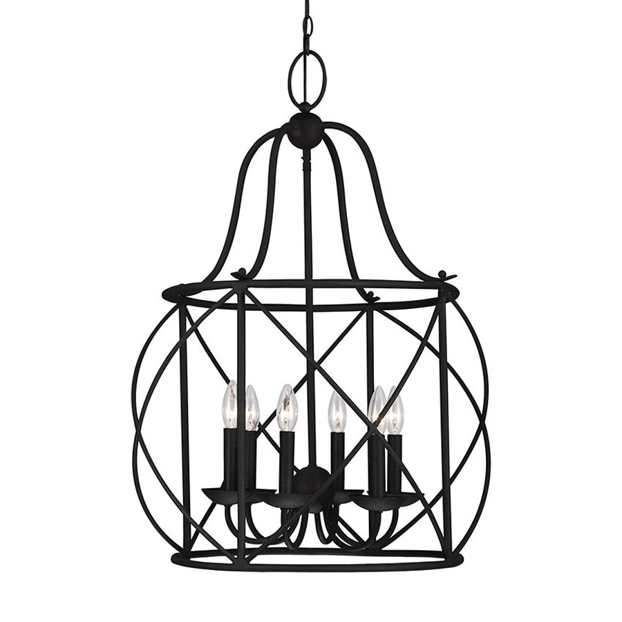 Shop sea gull lighting turbinio 2225 in 6 light blacksmith sea gull lighting turbinio 2225 in 6 light blacksmith country cottage cage chandelier arubaitofo Images