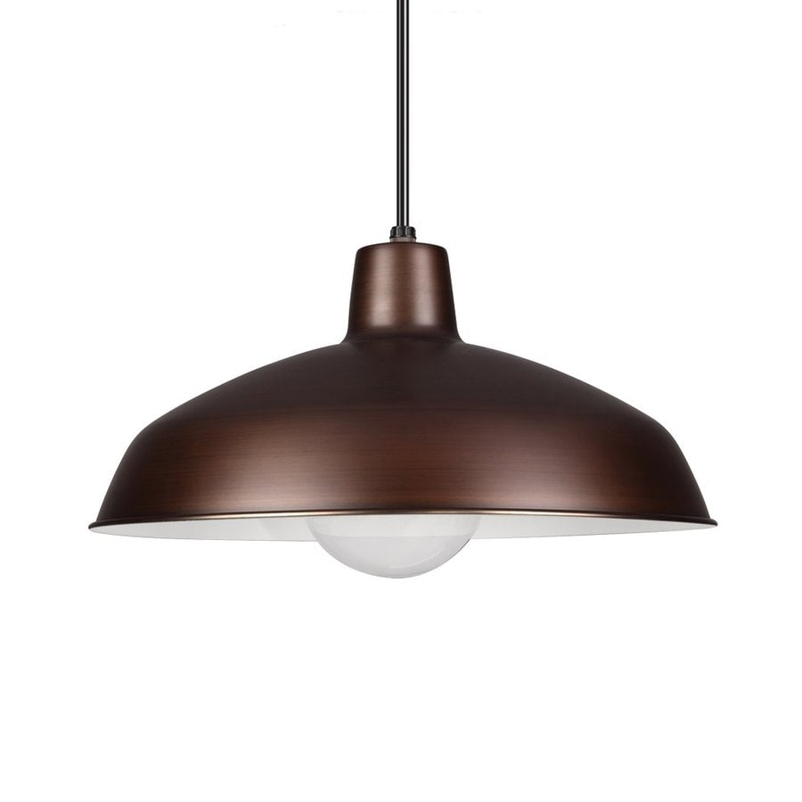 Sea Gull Lighting 15.75-in Antique Brushed Copper Industrial Single Warehouse Pendant