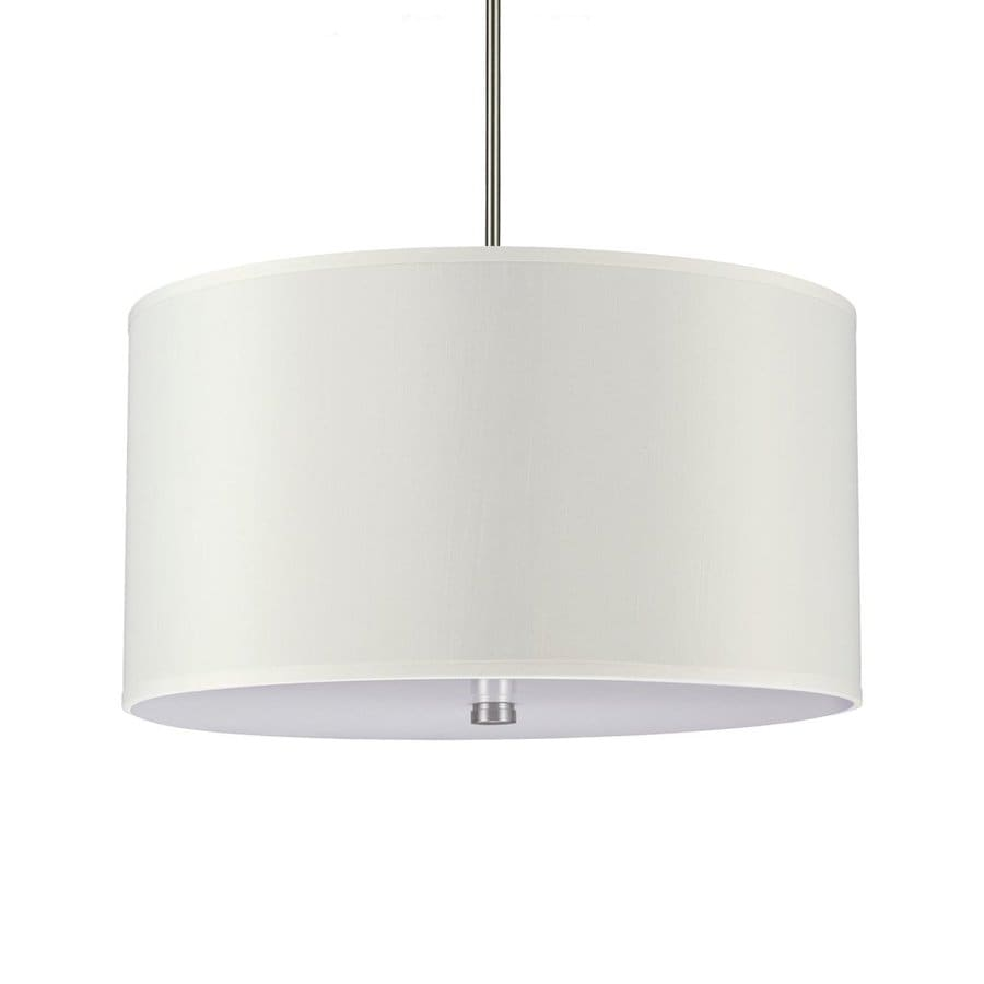 Sea Gull Lighting Dayna 24-in Brushed Nickel Single Drum Pendant