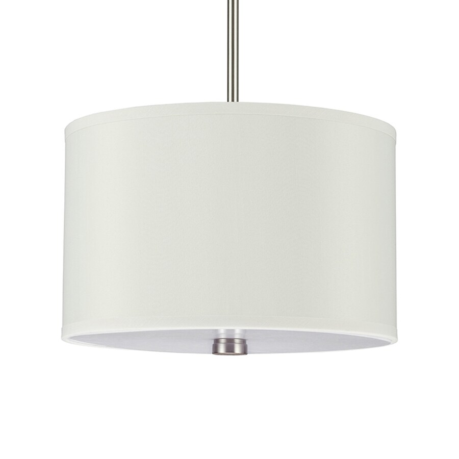 Sea Gull Lighting Dayna 14-in Brushed Nickel Single Drum Pendant