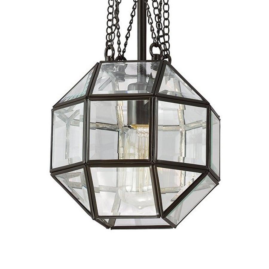 Sea Gull Lighting Lazlo 8-in Heirloom Bronze Vintage Mini Clear Glass Geometric Pendant