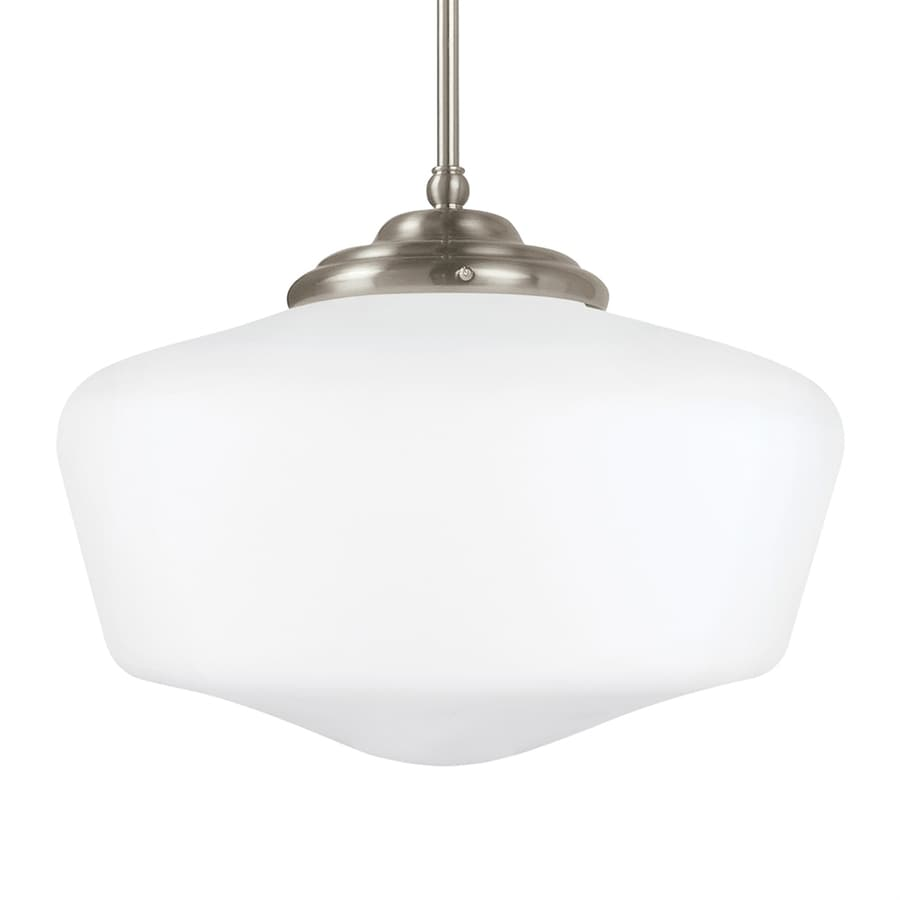 Sea Gull Lighting Academy 17 In Brushed Nickel Vintage Single Schoolhouse  Pendant