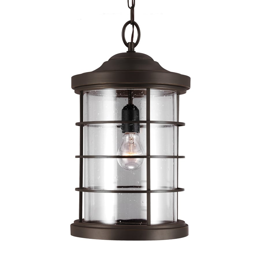 Antique Outdoor Pendant Lighting : Sea gull lighting sauganash in antique bronze