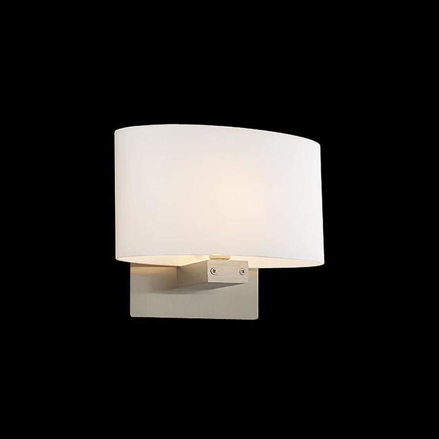 PLC Lighting Ibiza 8-in W 1-Light Satin Nickel Arm Wall Sconce