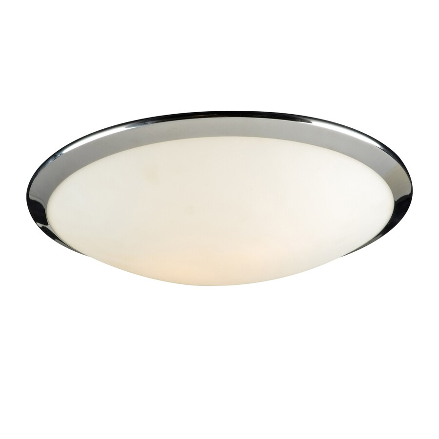 PLC Lighting Preston 15-in W Polished chrome Flush Mount Light