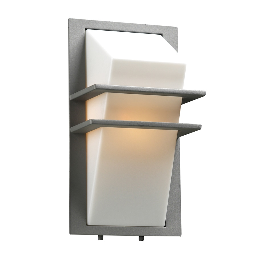PLC Lighting Juventus 13.5-in H Silver Outdoor Wall Light