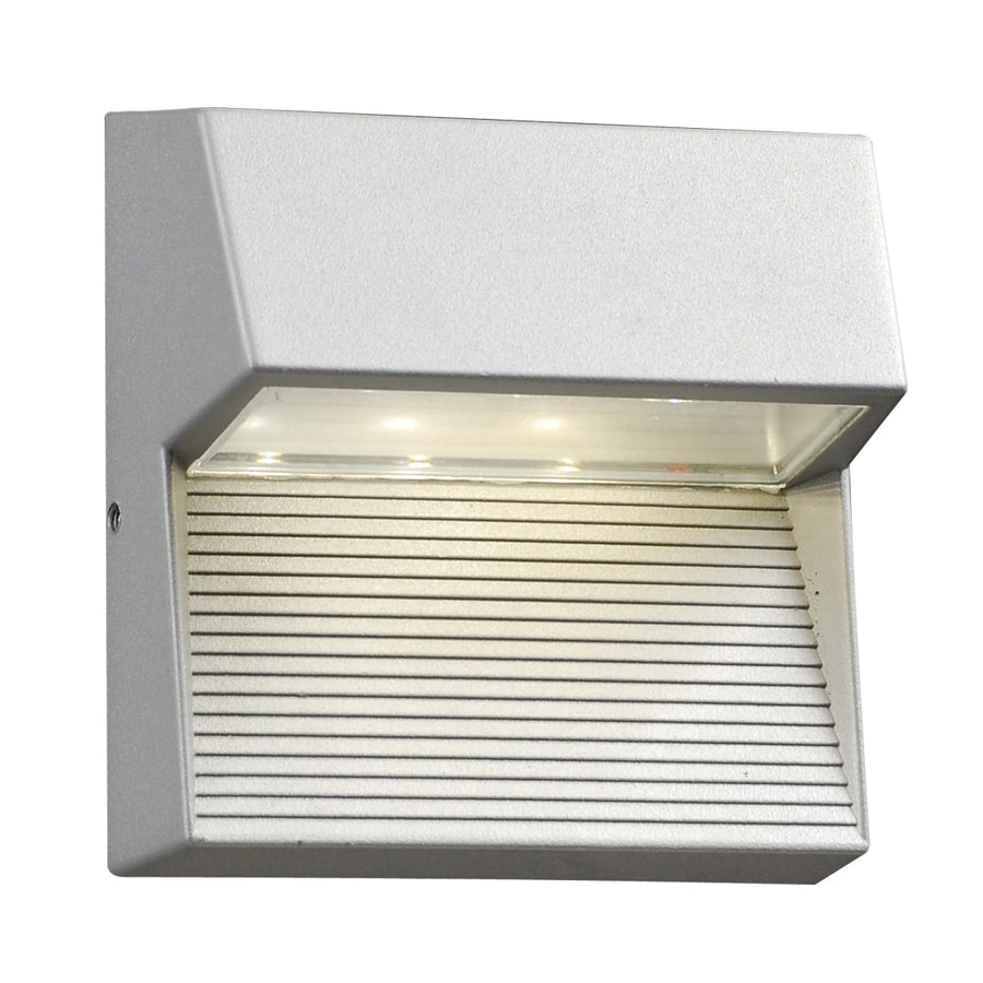 shop plc lighting faro 6 in h led silver dark sky outdoor wall light
