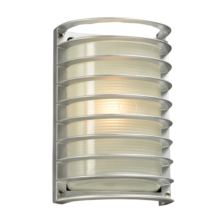 PLC Lighting Sunset 10.5-in H Silver Outdoor Wall Light