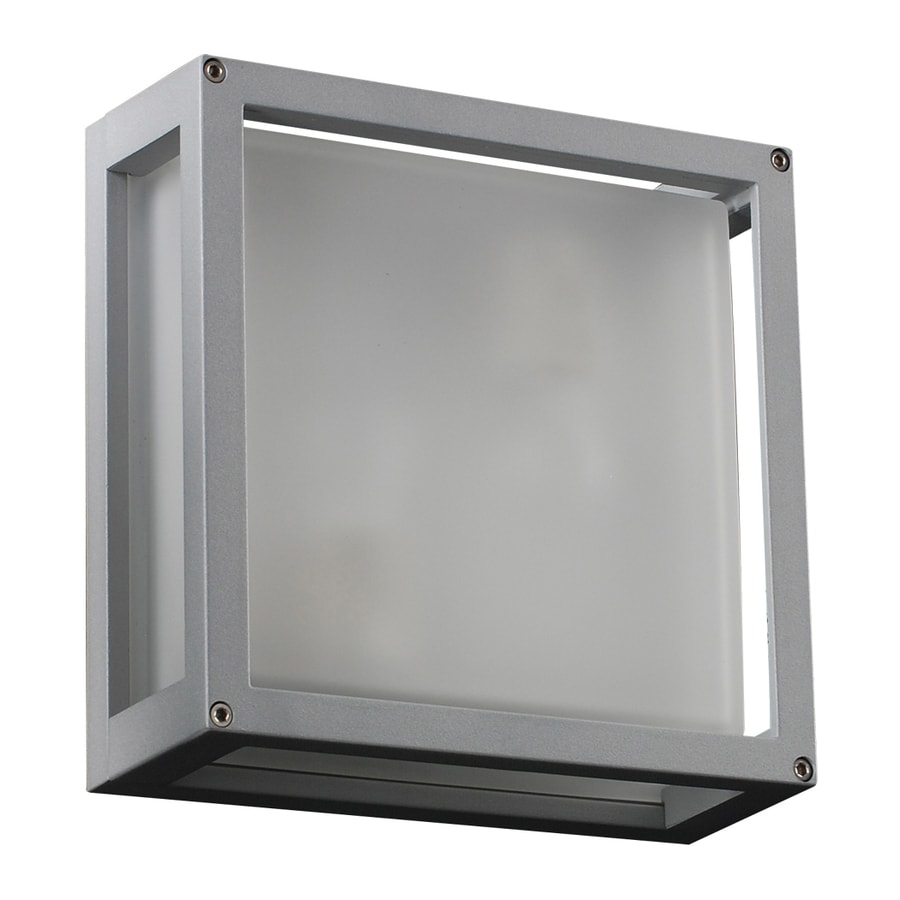 PLC Lighting Mauviel 9.75-in H Silver Outdoor Wall Light