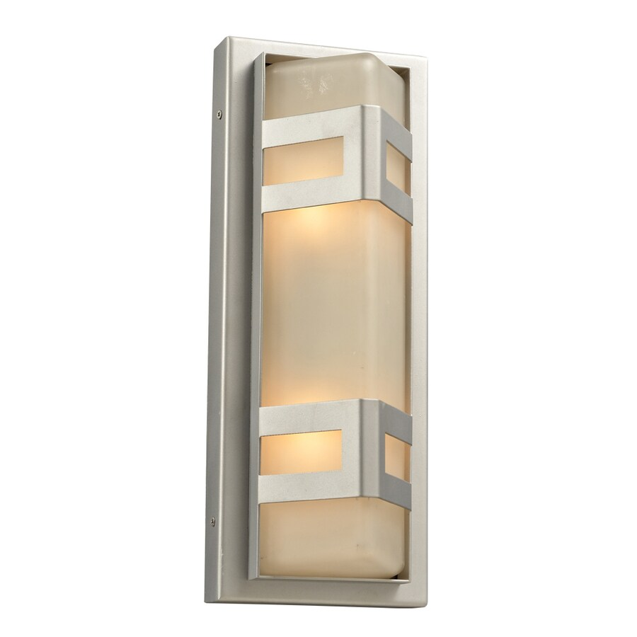PLC Lighting Sasha 16.25-in H Silver Outdoor Wall Light