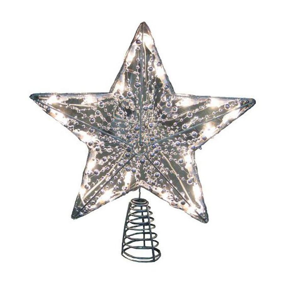 Star For A Christmas Tree: Christmas Central Plastic Star Christmas Tree Topper With